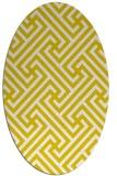 rug #170813 | oval white retro rug