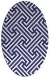 rug #170817 | oval white rug