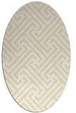 rug #170829 | oval yellow retro rug