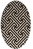 rug #170833   oval brown retro rug