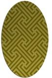 rug #170857 | oval light-green rug