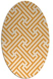 rug #170885 | oval white geometry rug