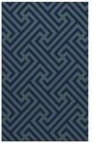 rug #170921 |  blue retro rug