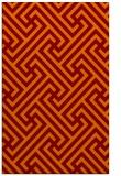 rug #171077    orange retro rug