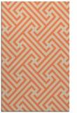 rug #171085    orange retro rug