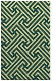 rug #171093    yellow retro rug