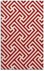 rug #171129 |  red geometry rug