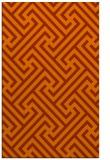 rug #171145 |  red-orange retro rug