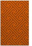rug #171153 |  red-orange retro rug