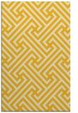 rug #171177 |  yellow retro rug