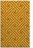 rug #171193 |  yellow geometry rug