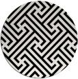 rug #171245   round white geometry rug