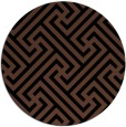 rug #171257 | round brown popular rug