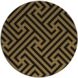 rug #171261 | round mid-brown retro rug