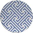 rug #171281 | round blue retro rug