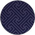 rug #171325   round blue-violet retro rug