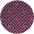rug #171333 | round pink retro rug