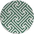 rug #171373 | round blue-green rug