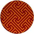 rug #171429 | round red-orange retro rug