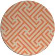 rug #171437   round orange retro rug