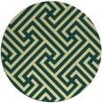 rug #171445 | round yellow geometry rug