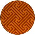 rug #171497   round red-orange retro rug