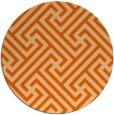 rug #171501 | round red-orange retro rug