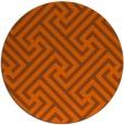 rug #171505   round red-orange geometry rug