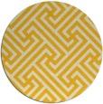 rug #171529 | round yellow geometry rug