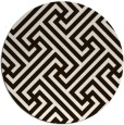 rug #171537   round brown retro rug