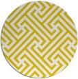 rug #171541 | round yellow retro rug