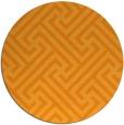 rug #171585 | round light-orange geometry rug