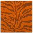 rug #172209   square red-orange animal rug