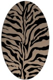 rug #172309 | oval stripes rug