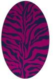 rug #172325   oval pink animal rug