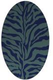 rug #172329 | oval blue animal rug