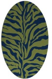 rug #172333 | oval blue animal rug