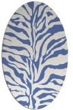 rug #172337 | oval blue rug