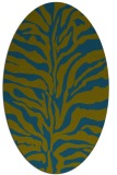 rug #172357 | oval green animal rug