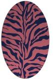 rug #172389 | oval blue-violet animal rug
