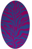 rug #172400 | oval stripes rug