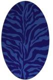 rug #172401 | oval blue-violet animal rug