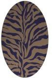 rug #172405 | oval blue-violet animal rug