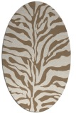 rug #172449 | oval beige stripes rug