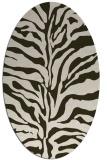 rug #172474 | oval stripes rug
