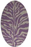 rug #172477 | oval beige animal rug