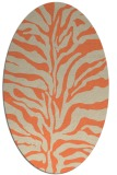 rug #172493 | oval orange stripes rug