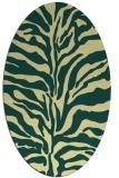 rug #172501 | oval yellow animal rug