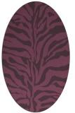 rug #172521 | oval purple animal rug