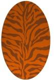 rug #172561 | oval red-orange animal rug